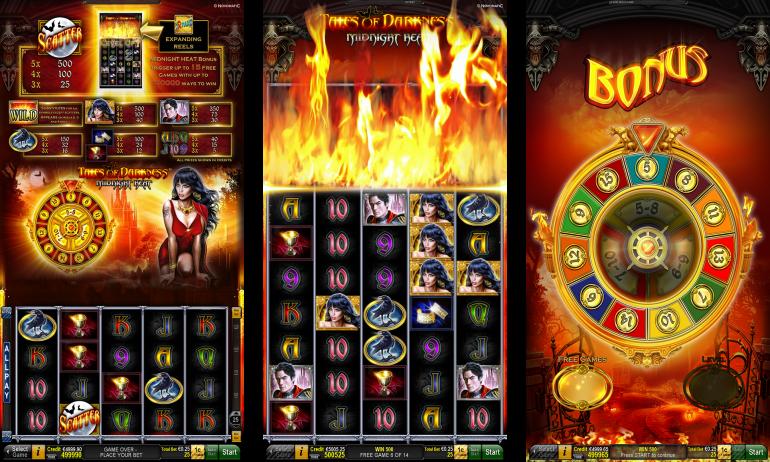 Tales of Darkness Midnight Heat Slot Machine